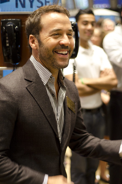 Jeremy Piven at the NYSE