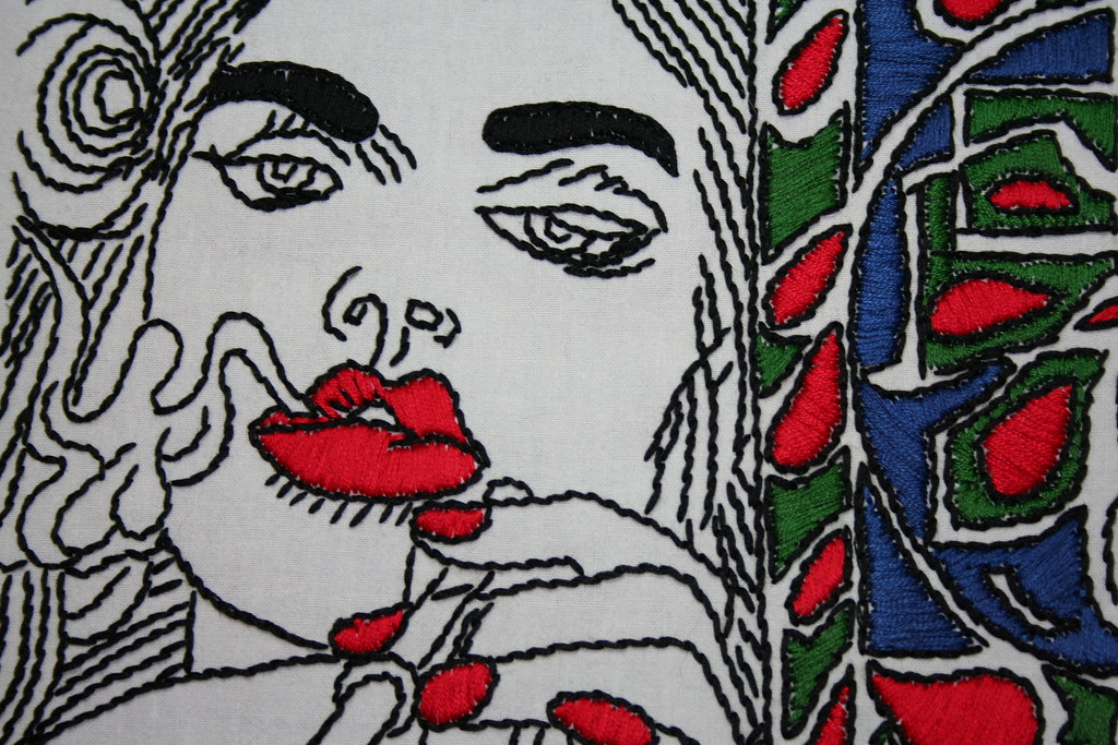 satin stitch erro embroidery