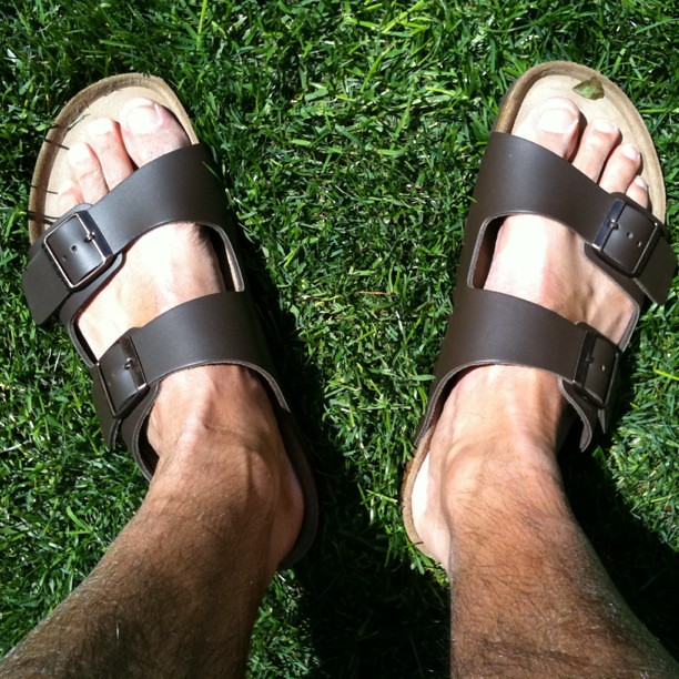 feet in birkenstocks