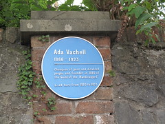 Photo of Ada Vachell blue plaque