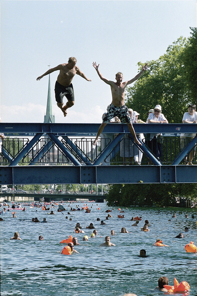 Swimming River Limmat