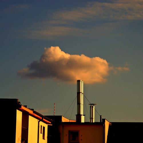 chimney sky cloud building berlin rooftop germany geotagged geotag nikond80