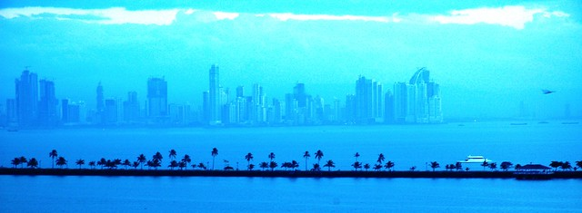 Panama city at dawn