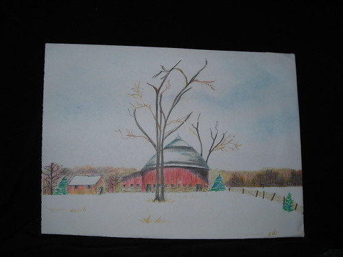 Barn at winter by Crane-Station