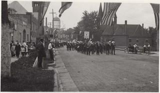 Parade celebrating Cornerstone laying, Missouri State Capitol (MSA)