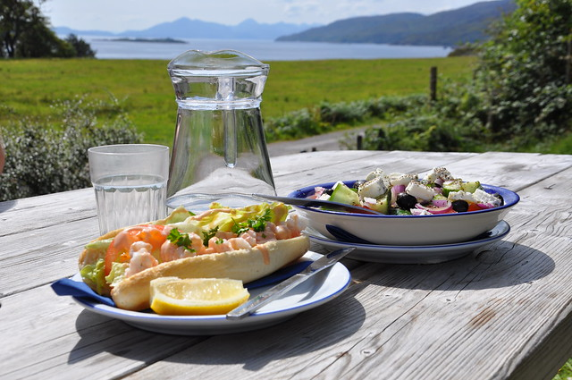 Lunch at Kishorn Seafood Bar, west coast of Scotland