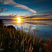 Drayton Harbor Sunset by bronsphoto