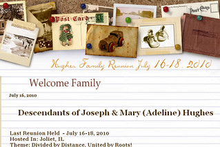 Family Reunion Website Image
