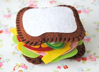 My hand-made felt cheese & ham sandwich