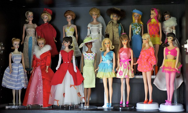 Vintage Barbie shelf
