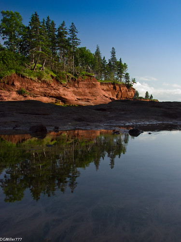 park canada water rock reflections raw novascotia head ns explore bayoffundy burncoat burntcoat dng chdk