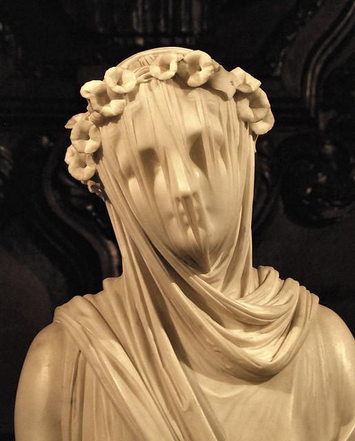Veiled Vestal Virgin By Raffaelle Monti Chatsworth House