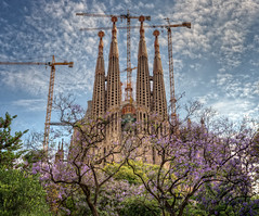 La Sagrada Familia, Barcelona (Spain), HDR