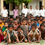 Students Lined up at School in Nalbata, Bangladesh