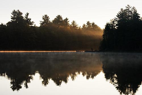 mist lake ontario canada sunrise landscape killarneyprovincialpark balsamlake