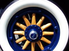 tire(0.0), steering wheel(0.0), alloy wheel(0.0), aircraft engine(0.0), automotive tire(1.0), wheel(1.0), rim(1.0), hubcap(1.0), blue(1.0), spoke(1.0),