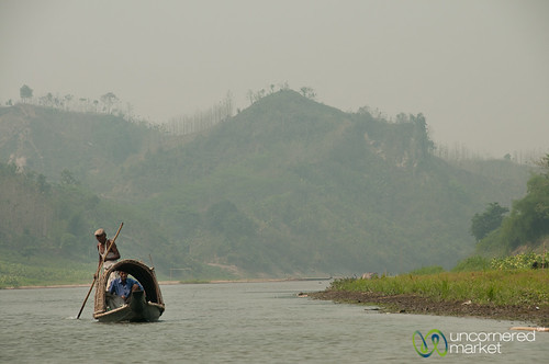 Boat on Shangu River - Bandarban, Bangladesh