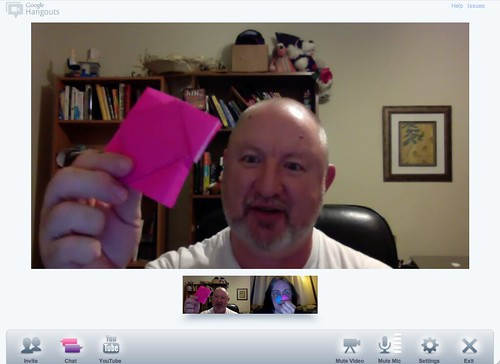 Cool Toys Pic of the day - Teaching Origami In Google+ Hangout