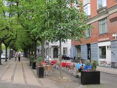 Cafe along Frederiksberg Alle