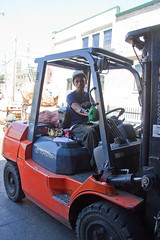automobile, vehicle, forklift truck,