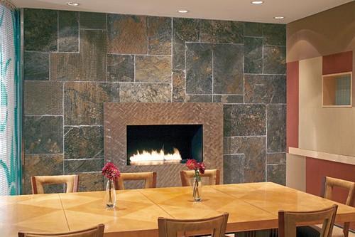 Revestimientos de interior con piedra ambiente natural en - Revestimientos de piedra interiores ...