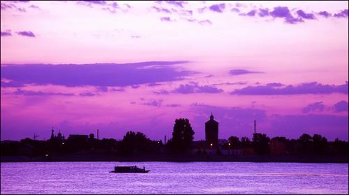 sunset river volga astrakhan astrachan