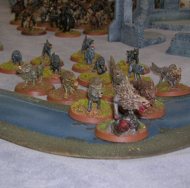 Warg Chieftain and Wargs