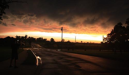 light sunset orange cloud storm rain silhouette dark republic missouri noise tornado joplin mammatus