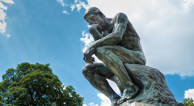 The Thinker, photo by Joe deSousa on Flickr