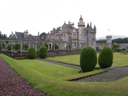 View of Abbotsford House from Garden