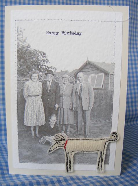 'dirk' adornes a birthday card