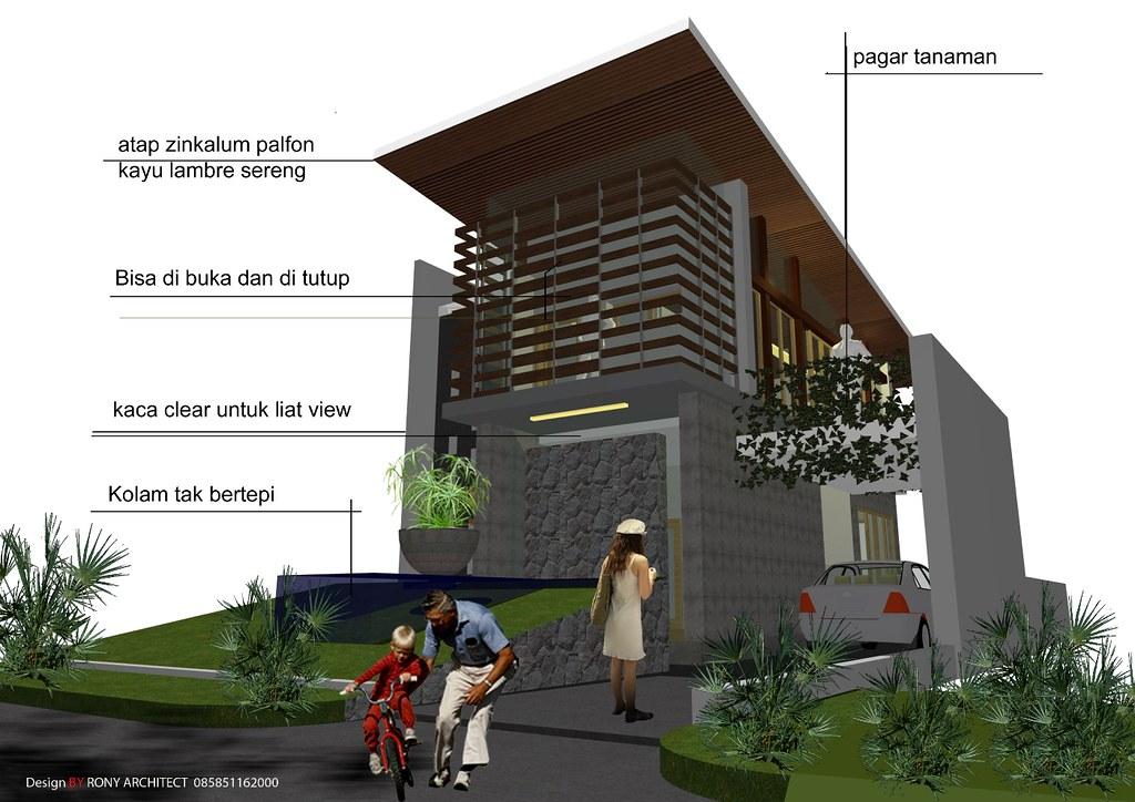 konsep design rumah minimalis modern
