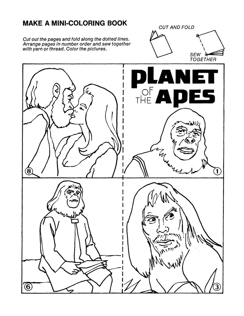 Planet of the Apes Cut & Color Book00005