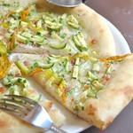Zucchini and Pancetta Pizza