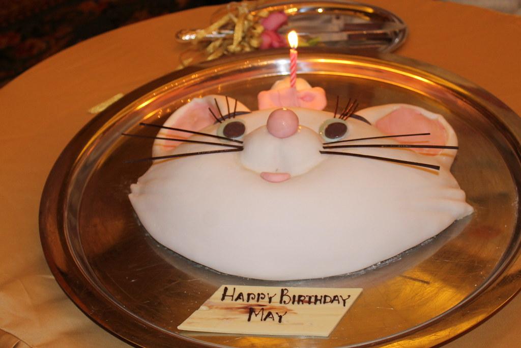 Marie Birthday Cake At The Finale Dinner Disneyland Hotel Hong Kong