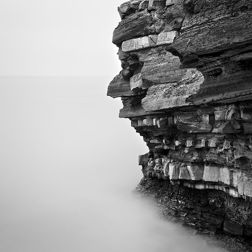 uk longexposure sea bw seascape southwest monochrome landscape mono nikon rocks somerset minimal le limestone geology yingyang minimalist bedding d90 kilve nd110 niksoft nikkor2470mmf28gafsed silverefexpro2