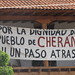Cherán protest banner por David Agren
