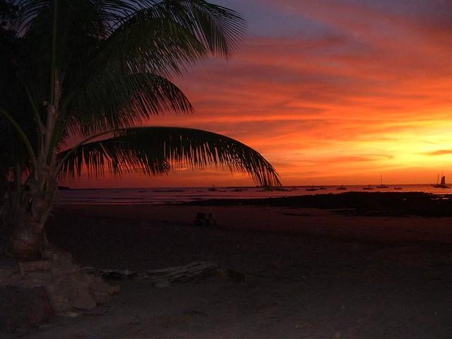 Costa Rica beach Sunset View