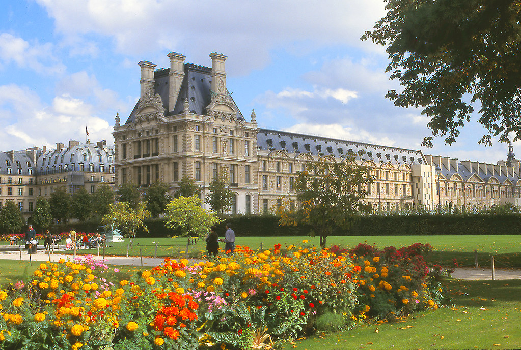 Tuileries gardens and the louvre paris a photo on for Paris tuileries