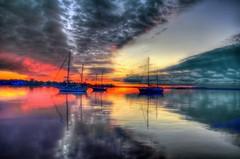 Sailing Boat Sunrise Hdr Sail Boat Sunrise