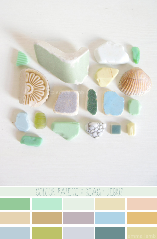 colour palette : beach debris - curated by Emma Lamb / photograph © emma lamb