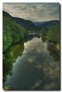 Sravroupoli's river bridge ... HDR