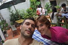 Al Brown Sugar Café fent temps per trobar-nos amb la gent del CouchSurfing