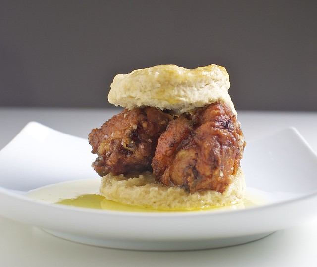 Fried Chicken and Biscuits drizzled with Honey Butter | Flickr - Photo ...