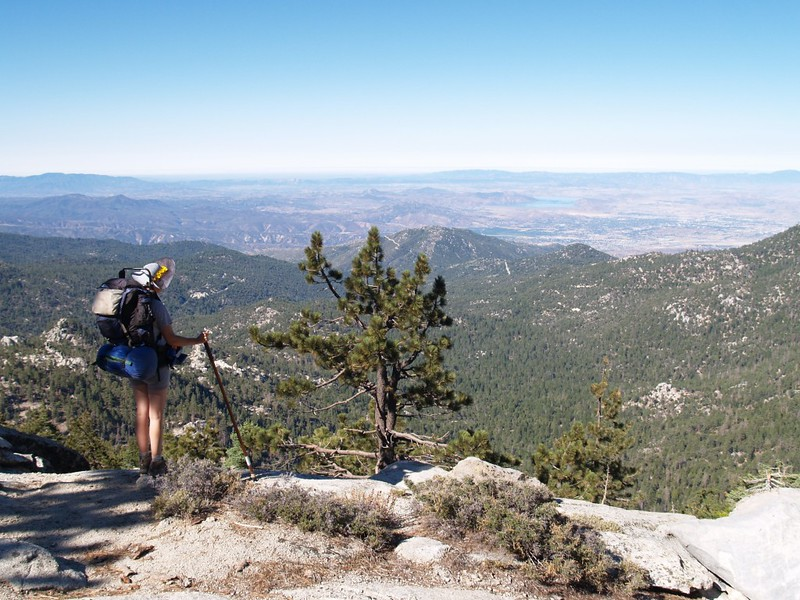 Looking west toward Hemet and Idyllwild from the Fuller Ridge Trail