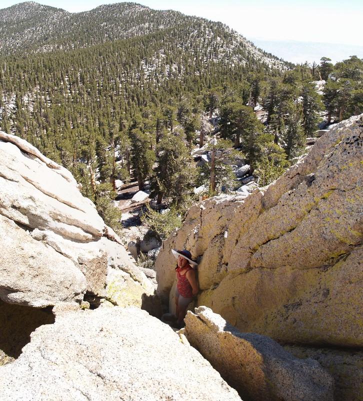 Marion Mountain Summit Block Crack Downclimb