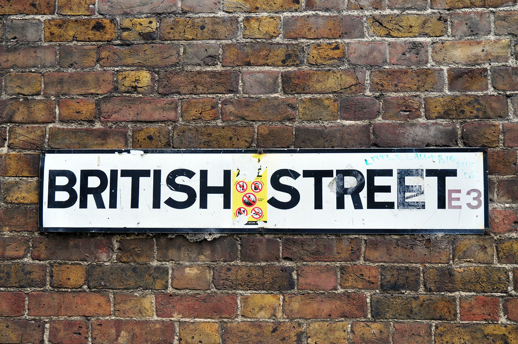 British Street E3, plus Sharia sticker