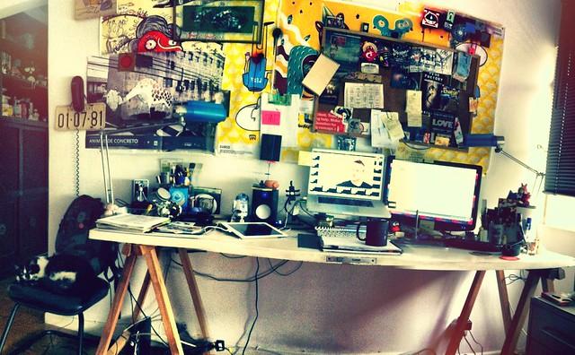 minha mesa de trabalho caseira em casa