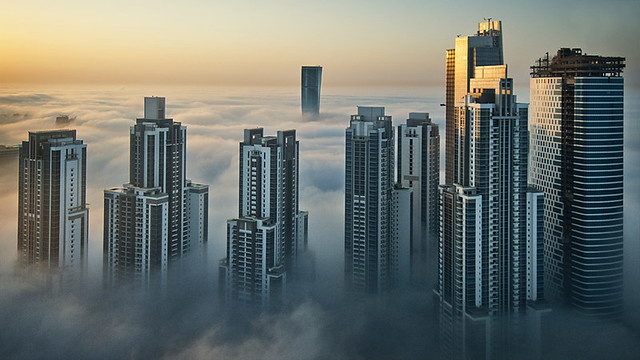 Foggy sunrise in Dubai #2