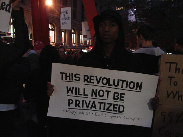Occupy Wall Street visit, Oct. 2011